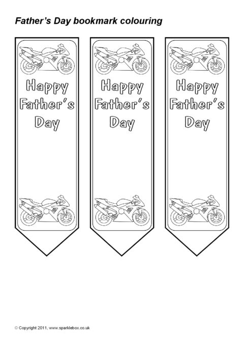 father u2019s day colouring bookmarks  sb5623