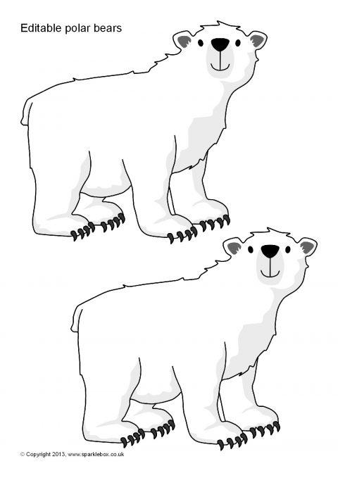 Editable Polar Bear Templates SB9233  SparkleBox