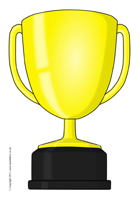 graphic relating to Printable Trophy Labels known as Editable Trophy Templates (SB5420) - SparkleBox