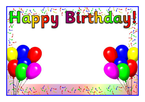Editable Happy Birthday Posters (SB5061) - SparkleBox