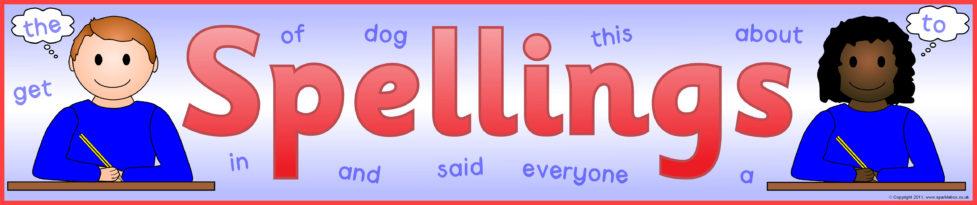Spellings Display Banner (SB4680) - SparkleBox