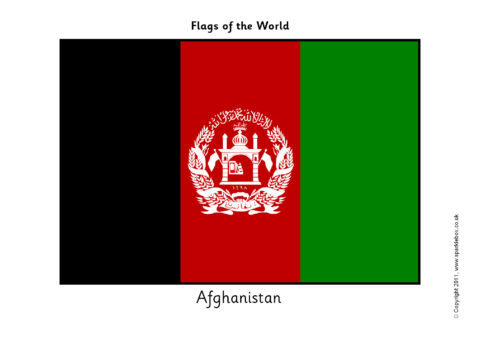 photograph about Flags of the World Printable Pdf called Flags of the Earth (SB4439) - SparkleBox