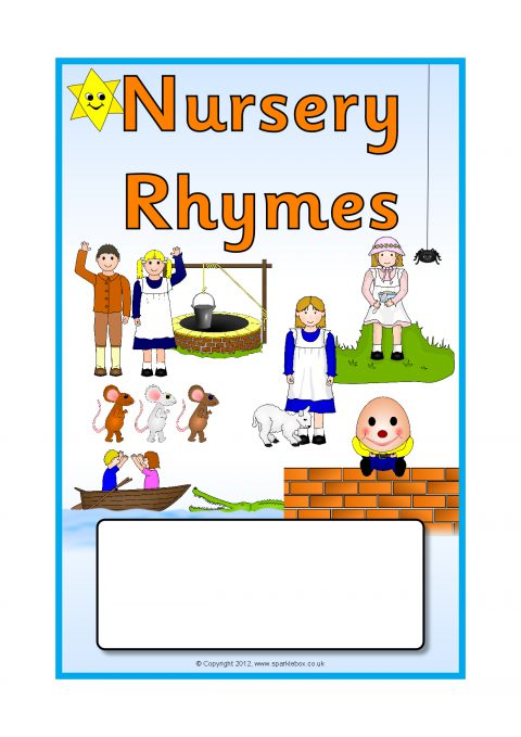 Book Cover Template Uk ~ Nursery rhymes editable topic book covers sb sparklebox
