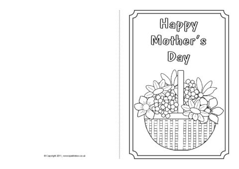 mother s day card colouring templates sb4359 sparklebox. Black Bedroom Furniture Sets. Home Design Ideas