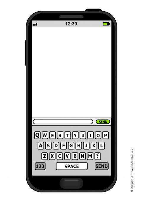 editable smartphone templates    page borders  sb12040