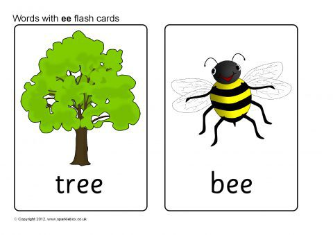Words With Ee Flash Cards Sb8558 Sparklebox