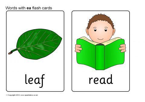 Words with ea Flash Cards (SB8569) - SparkleBox