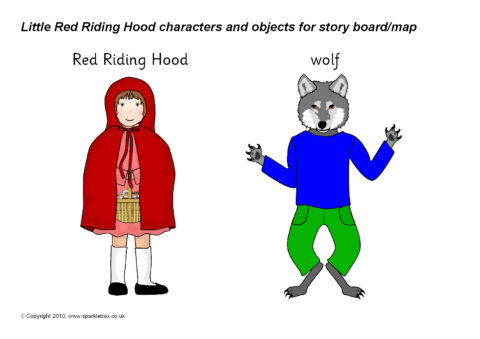 Little Red Riding Hood Story Cut Outs Sb3450 Sparklebox