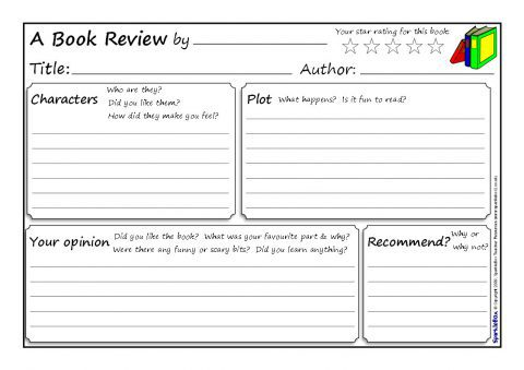 Book Review Writing Frames And Printable Page Borders Ks  Ks