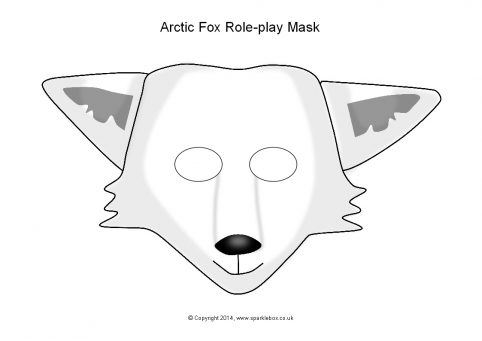 image about Printable Fox Masks called Arctic Fox Purpose-Engage in Masks (SB10278) - SparkleBox