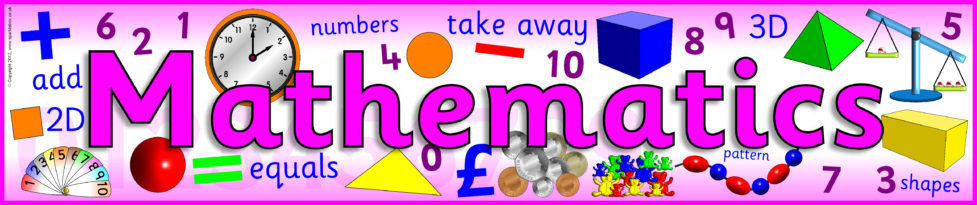 Mathematics Display Banner (SB31) - SparkleBox