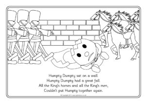 10 Adorable Humpty Dumpty Coloring Pages For Toddlers | 214x302