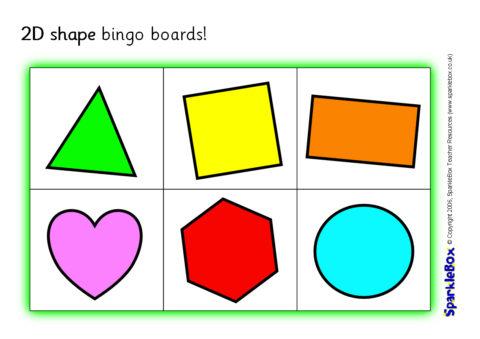 graphic regarding Shape Bingo Printable known as 2D Condition Bingo Community forums (SB536) - SparkleBox