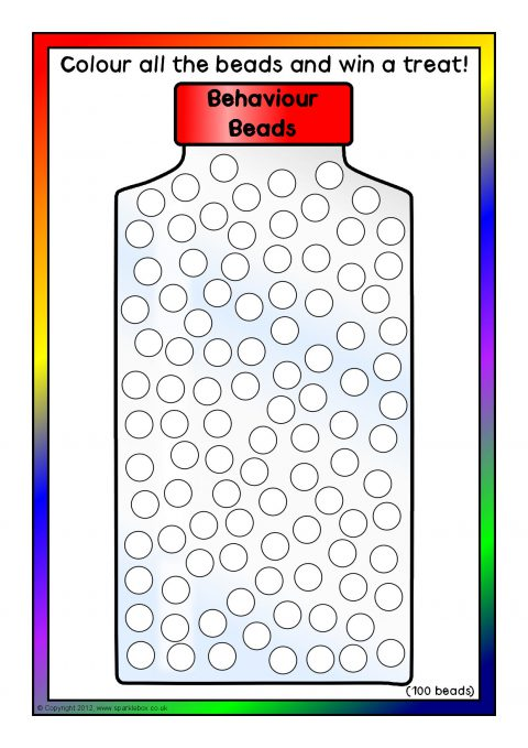'Behaviour Beads' Jar Reward Charts (SB8629) - SparkleBox