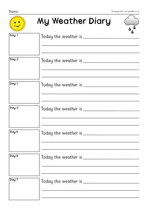 7 day weather diary set  sb6112