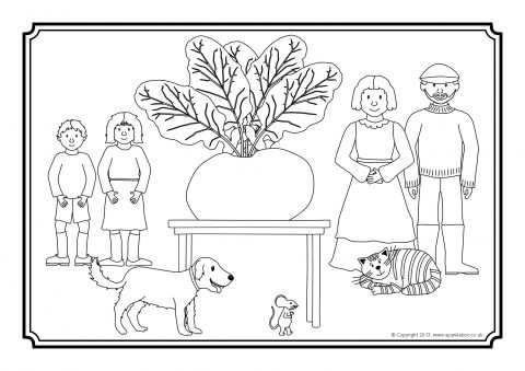 The enormous turnip worksheets checks worksheet for Turnip coloring page