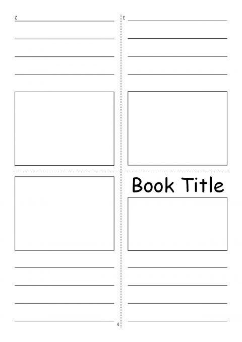 editable fold-over mini book templates  sb7366