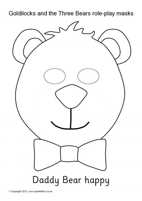 Goldilocks and the Three Bears Role-Play Masks – Black and ...