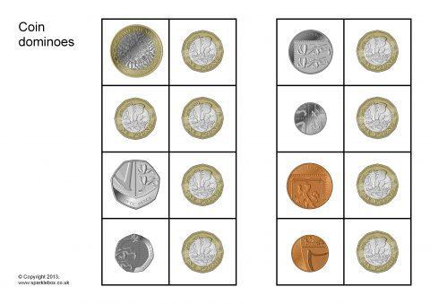 Coin Dominoes (SB9521) - SparkleBox