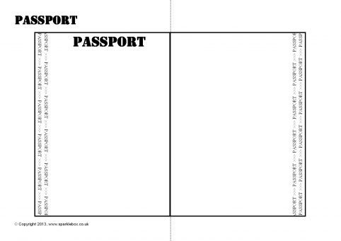 Editable Passport Writing Frame Template Sb  Sparklebox