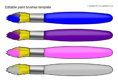 editable paint brush templates sb7126 sparklebox