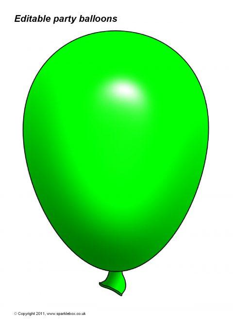 editable party balloon templates  sb3996  sparklebox Balloon Clip Art Free Download Birthday Balloons Clip Art Free