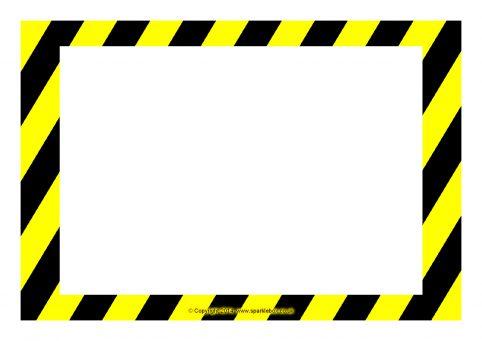 graphic regarding Sign Templates titled Editable Caution / Threat Indicator Templates (SB10387) - SparkleBox