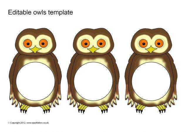 Editable Owl Templates (SB8714) - SparkleBox