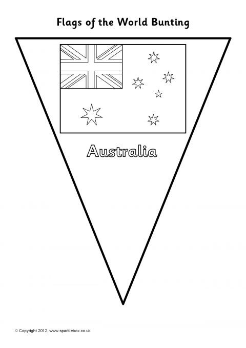 flags of the world bunting colouring sheets  sb7937