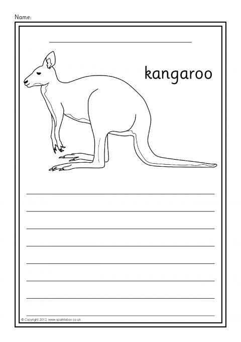 Australian Animals Colour and Write Worksheets SB9003 SparkleBox