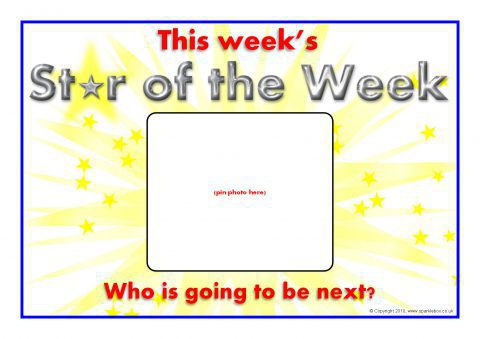 star of the week  day posters  sb3077  sparklebox super star student clipart star student of the week clipart