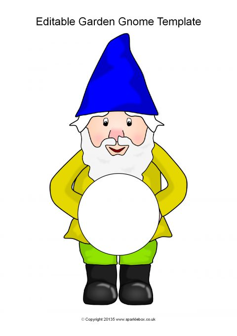 editable garden gnome templates  sb11288