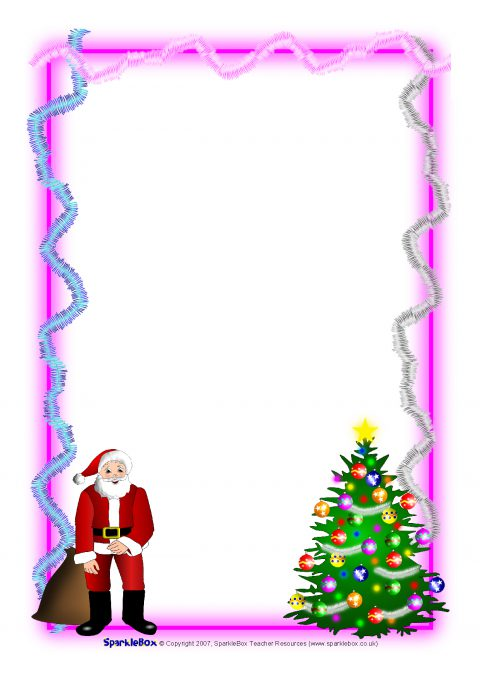 Christmas a4 portrait page borders 1 sb1059 sparklebox preview spiritdancerdesigns Images