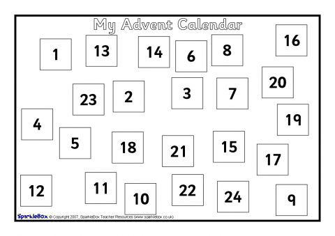 make your own a4 sized advent calendar. Black Bedroom Furniture Sets. Home Design Ideas