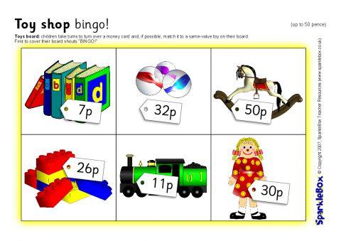 toy shop bingo up to 50 pence sb1137 sparklebox. Black Bedroom Furniture Sets. Home Design Ideas