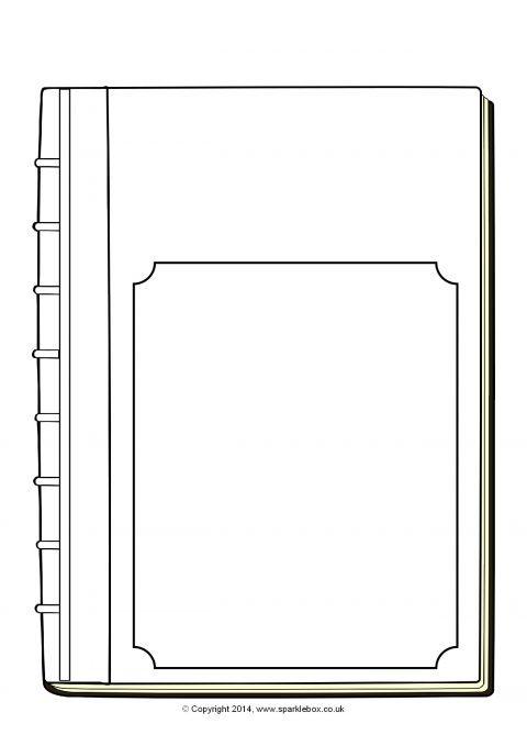 editable book cover templates  u2013 black and white