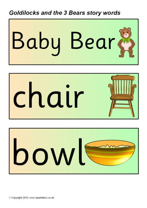 It's just a picture of Goldilocks and the Three Bears Story Printable pertaining to math