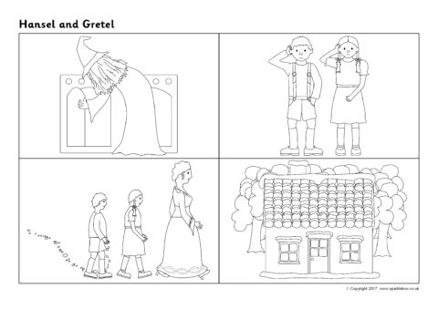 Hansel and Gretel Sequencing Sheets (SB12210) - SparkleBox
