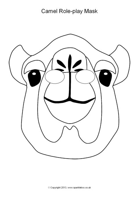 coloring pages camel face - photo#28