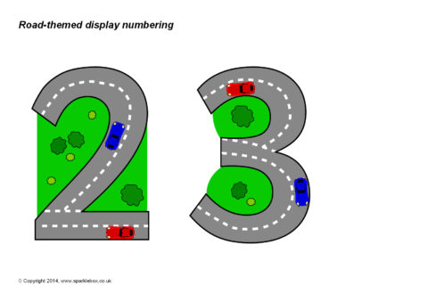 Cars For Free >> Road-Themed Display Numbering