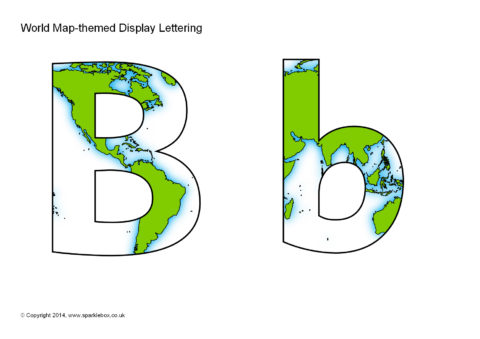 World map themed display lettering sb10941 sparklebox preview publicscrutiny Choice Image