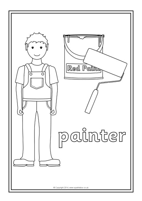 Occupations Colouring Sheets SB10547