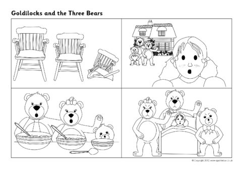 Goldilocks and the Three Bears Sequencing Sheets SB7215  SparkleBox