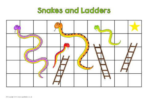 Editable snakes and ladders games sb7378 sparklebox for Printable snakes and ladders template