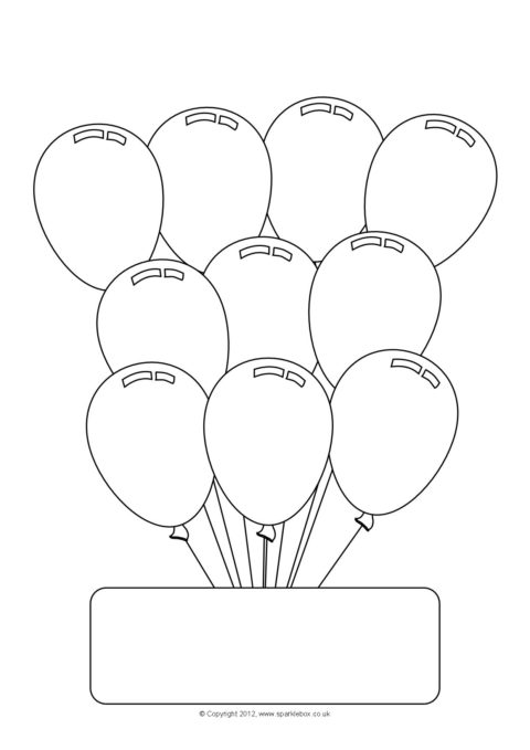 editable party balloon worksheet templates