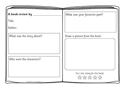 Book Review Writing Frame Templates Sb4295 Sparklebox