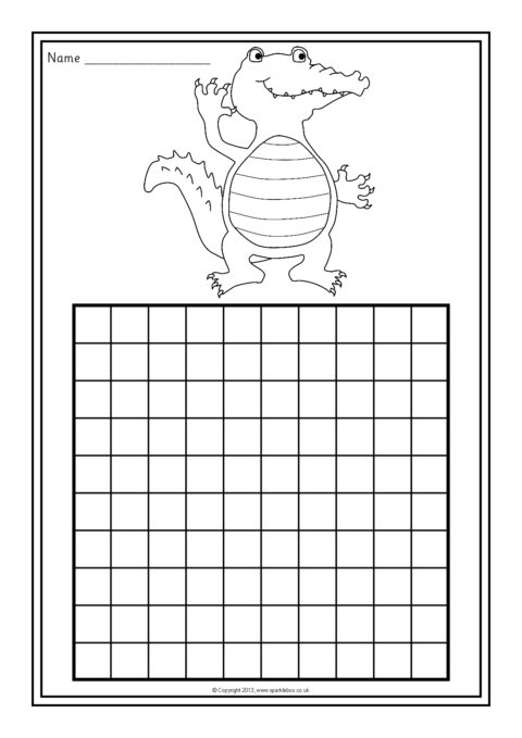 Obsessed image within printable blank 100 chart