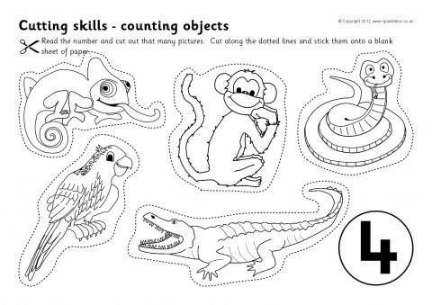It's just a photo of Witty Free Printable Cutting Worksheets