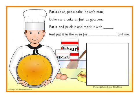 Pat A Cake Pupil Sheet