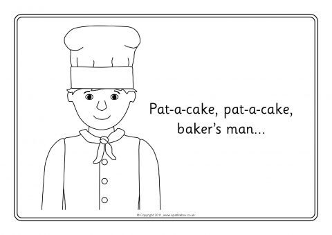 Pat A Cake Colouring Sheets Sb7325 Sparklebox